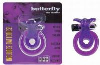- Cockring met clitoris stimulator, Butterfly