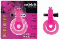 - Cockring met clitoris stimulator, Rabbit Rose