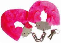 - Fluffy Bont Handboeien Donker Roze.