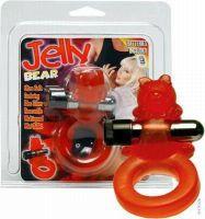- Jelly Bear Cockring met batterijen